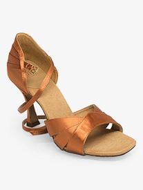 Womens Carmen 3 Embossed Back Ballroom Dance Shoes