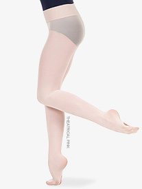 Girls Nylon Smooth Waist Convertible Dance Tights