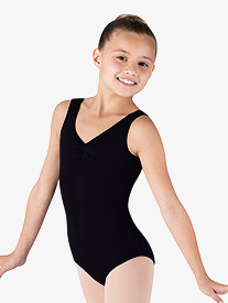 Child Gathered Tank Leotard
