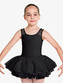 Girls Aiko Floral Mesh Tank Ballet Tutu Dress