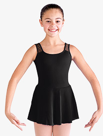 Girls Daisy Mesh Tank Ballet Dress