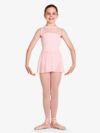 Girls Chantrell Floral Mesh Waistband Pull-On Ballet Skirt