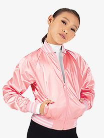 Girls Satin Dance Bomber Jacket