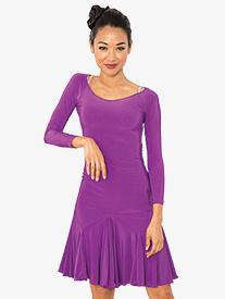 Womens Back Cutout Short Ballroom Dance Dress