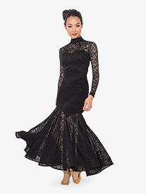 Womens Angelica Long Ballroom Dance Dress