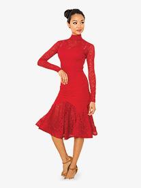 Womens Angelica Short Ballroom Dance Dress