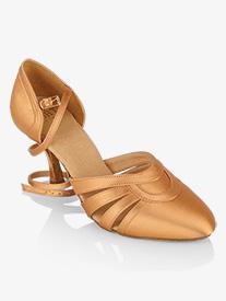 Womens Nevada Closed Toe Satin Ballroom Dance Shoes