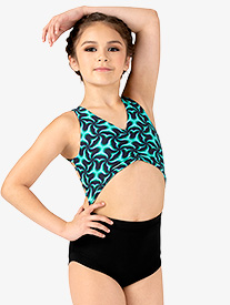 Girls Emerald Print Tank Leotard