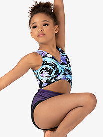 Girls Seashell Print Tank Leotard