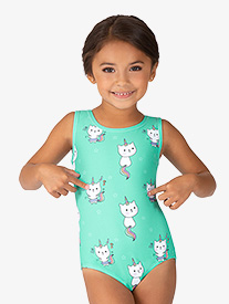 Girls Caticorn Sublimated Print Tank Leotard