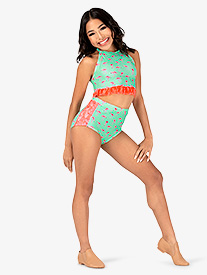 Girls Flamingo Print Dance Briefs