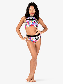 Girls Neon Circles Print Dance Briefs