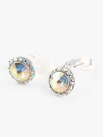 Iridescent Stone 18mm Clip Earring