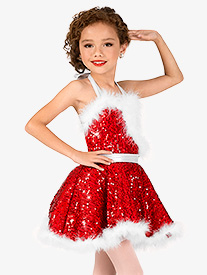Girls Holiday Cheer Sequin Character Dance Costume Dress