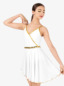 Womens Dance Costume Grecian Camisole Dress