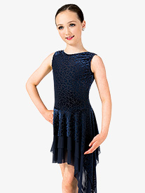 Girls Performance Asymmetrical Tank 2-Piece Dress Set