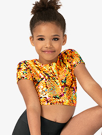 Girls Performance Blaze Short Sleeve Crop Top
