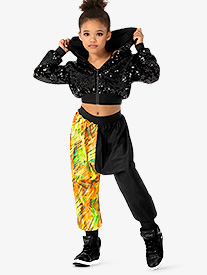 Girls Performance Blaze Dual Print Jogger Pants