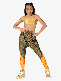 Girls Performance Blast Dual Print Harem Pants