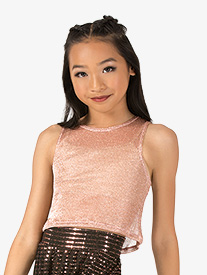 Girls Performance Swag Mesh Tank Crop Top