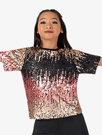 Girls Performance Swag Boxy Short Sleeve Top