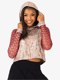 Womens Performance Flexx Dual Print Cropped Sweater