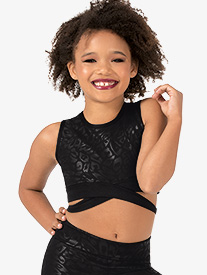 Girls Performance Flexx Crisscross Crop Top