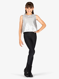 Girls Performance Groove Oversize Metallic Tank Top