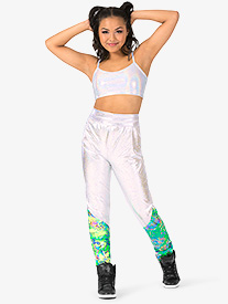 Womens Performance Groove Dual Print Jogger Pants