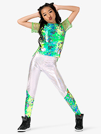 Girls Performance Groove Dual Print Jogger Pants