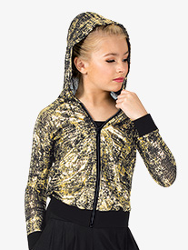 Girls Performance Freestyle Zip Up Jacket