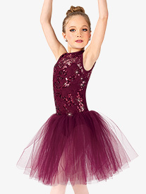 Girls Performance Sequin Tank Tutu Dress