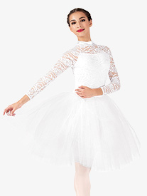 Womens Performance Lace Romantic Tutu Dress