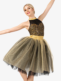 Womens Performance Two-Tone Romantic Tutu Dress