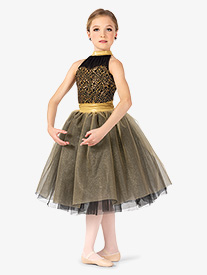 Girls Performance Two-Tone Romantic Tutu Dress