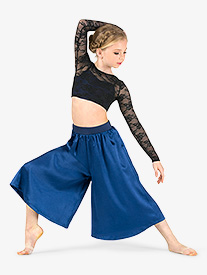 Girls Lace & Satin 2-Piece Dance Costume Set