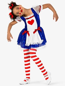 Girls Ragdoll 3-Piece Character Costume Dress Set
