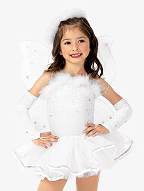 Girls Angel Camisole Character Dance Costume Set