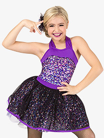 Girls Performance Sequin 3-Piece Dance Costume Set