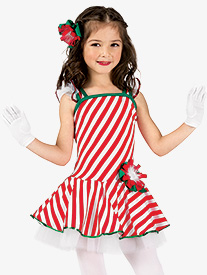 Girls Performance Striped Tank Tutu Dress