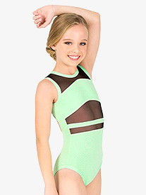 Girls Strappy Back Tank Leotard