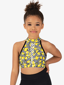 Girls Lemonade Halter Dance Bra Top