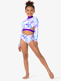 Girls Pastel Flowers Dance Briefs