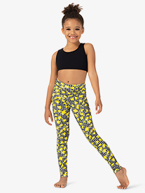 Girls Lemonade High Waist Dance Leggings