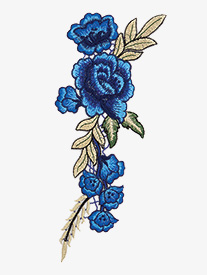 Rose Embroidered Iron-On Applique