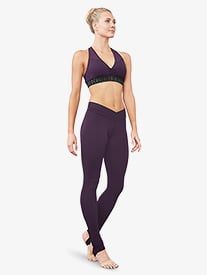 Womens V-Front Stirrup Leggings