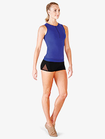 Womens Adelia Mesh Panelled Fitness Shorts