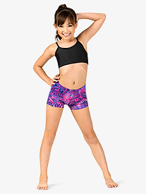 Girls Electric Geometry Print Shorts