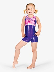 Child Gymnastic Two-Tone Biketard