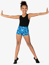 Girls Windmill Print Dance Shorts
